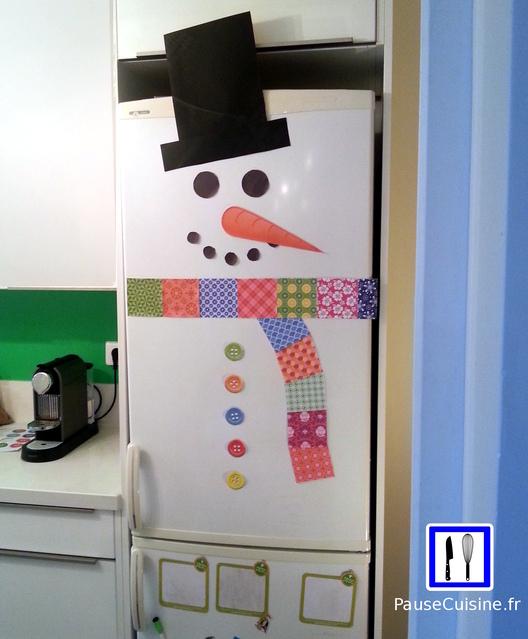 Bonhomme de neige frigo de Noël